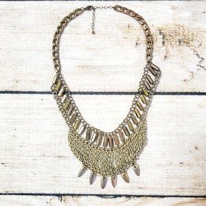 uo | Gold Silver Chain Boho Bib Statement Necklace